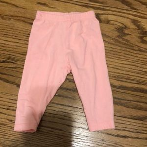 Baby girl pink leggings